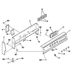 9119369181 Electric Range Backguard section Parts diagram