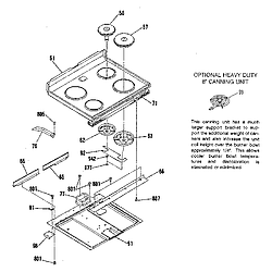 9119369181 Electric Range Main top section Parts diagram