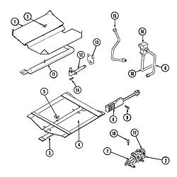 9475XVB Range Gas controls Parts diagram