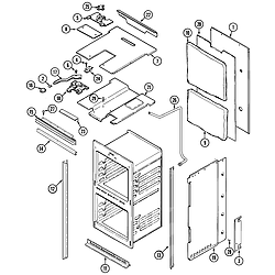 9825VUV Electric Oven Body Parts diagram