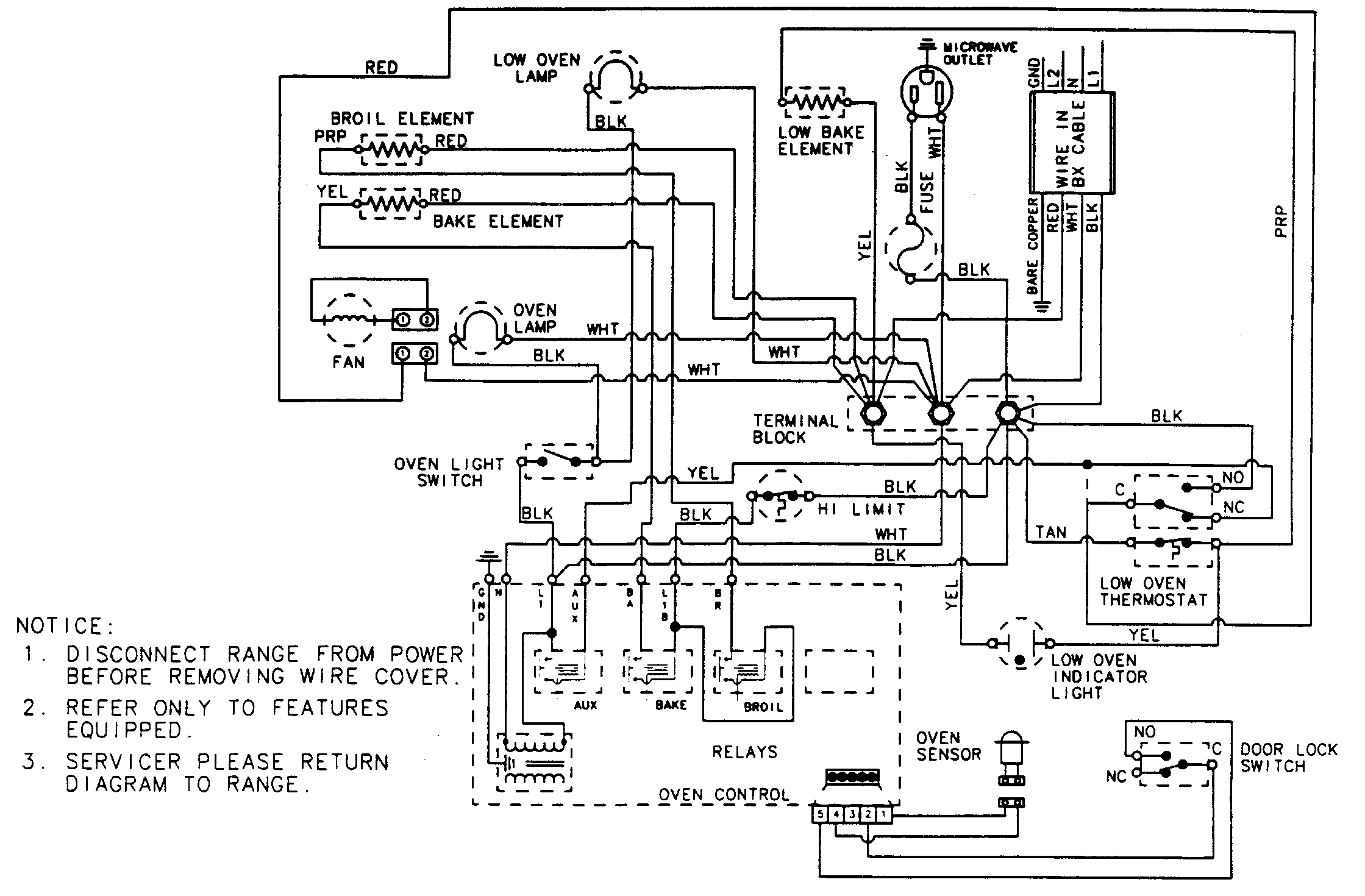 wiring information parts magic chef 9825vuv electric oven timer stove clocks and oven wiring diagrams at gsmx.co