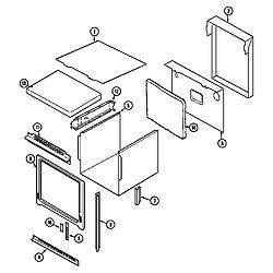9855VVV Range Body Parts diagram