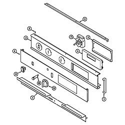 9855VVV Range Control panel Parts diagram