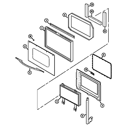 9855VVV Range Door Parts diagram