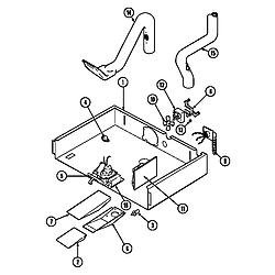 9855VVV Range Internal controls Parts diagram