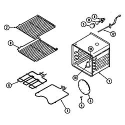 9855VVV Range Oven Parts diagram