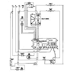 9855VVV Range Wiring information Parts diagram
