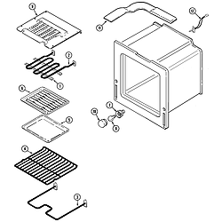 9875VRV Range Oven Parts diagram