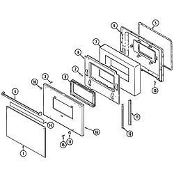 9875XRB Range Door Parts diagram