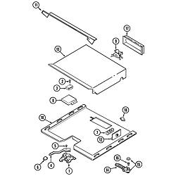 9875XRB Range Internal controls Parts diagram