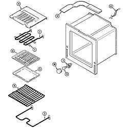 9875XRB Range Oven Parts diagram
