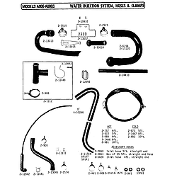 A806 Washer Water injection system Parts diagram