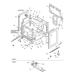 ACF3325AW Gas Range Cabinet Parts diagram