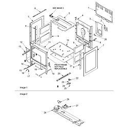 ACF4225AW Electric Range Cabinet Parts diagram
