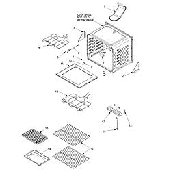 ACF4225AW Electric Range Cavity Parts diagram