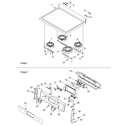 ACF4225AW Electric Range Main top and backguard Parts diagram