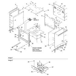 ACS3350AB Gas Range Cabinet Parts diagram