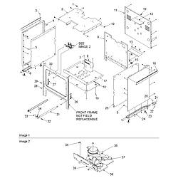 ACS3350AW Slide-in Self Cleaning Gas Range Cabinet Parts diagram