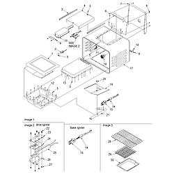 ACS3350AW Slide-in Self Cleaning Gas Range Cavity Parts diagram