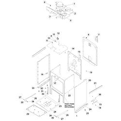 ACS4250AC Range Cabinet Parts diagram