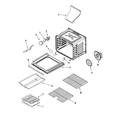 AGR5835QDQ Freestanding Gas Range Cavity Parts diagram