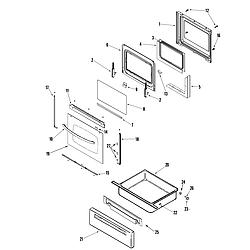AGR5835QDQ Freestanding Gas Range Door/drawer Parts diagram