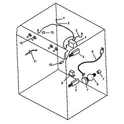 AGS761L Gas Range Electrical components Parts diagram