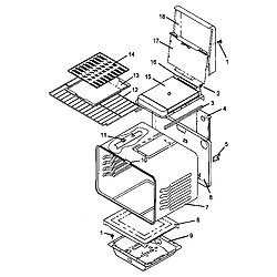 AGS761L Gas Range Oven assembly Parts diagram