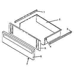 AGS761L Gas Range Storage drawer assembly Parts diagram