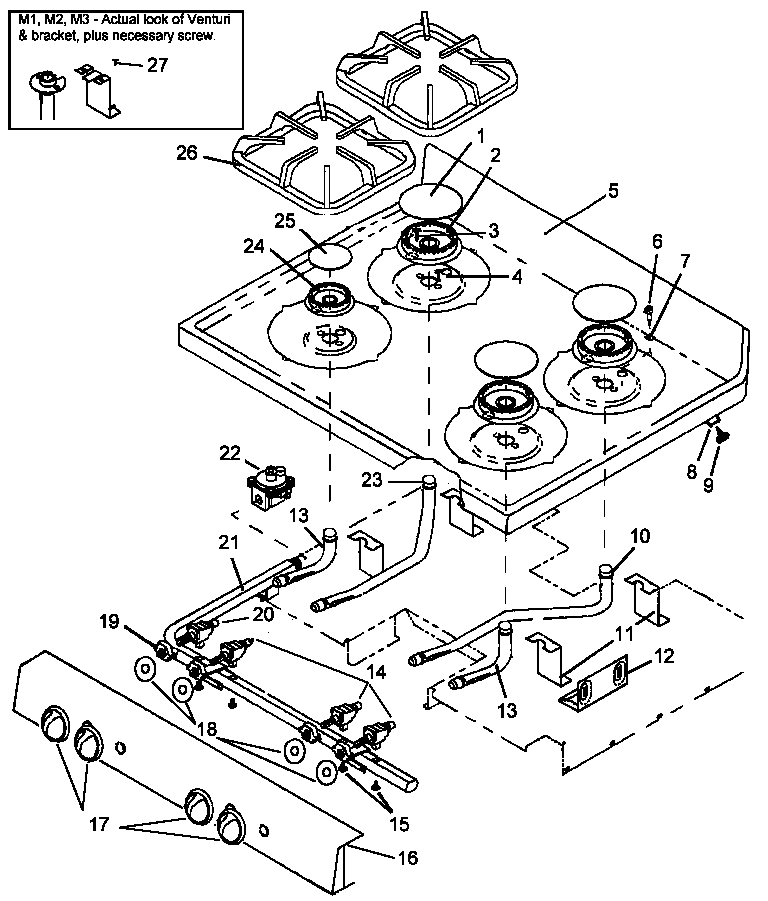 main top assy parts amana ags781ww self cleaning, frestanding gas range timer stove stove diagram at bayanpartner.co
