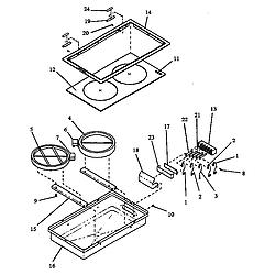 ARDS800E Electric Range Cooktop (cc12hre/p1172301) (cc12hrw/p1172302) Parts diagram