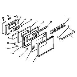 ARDS800E Electric Range Door (ards800e/p1131920ne) (ards800ww/p1131920nww) (cards800e/p1131922ne) (cards800ww/p1131922nww) Parts diagram
