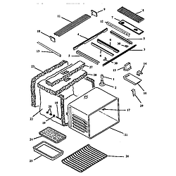 ARDS800E Electric Range Main body (ards800e/p1131920ne) (ards800ww/p1131920nww) (cards800e/p1131922ne) (cards800ww/p1131922nww) Parts diagram