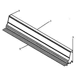 ARDS800WW Electric Range Backguard Parts diagram