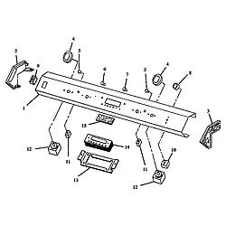 ARDS800WW Electric Range Control panel (ards800e/p1131920ne) (ards800ww/p1131920nww) (cards800e/p1131922ne) (cards800ww/p1131922nww) Parts diagram