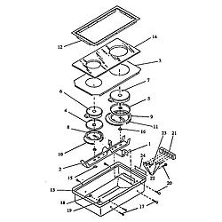 ARDS800WW Electric Range Cooktop (cc13e/p1155203) (cc13w/p1155204) Parts diagram