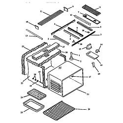 ARDS800WW Electric Range Main body (ards800e/p1131920ne) (ards800ww/p1131920nww) (cards800e/p1131922ne) (cards800ww/p1131922nww) Parts diagram