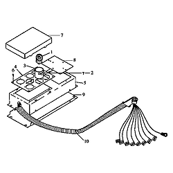 ARDS800WW Electric Range Voltage assembly (cards800e/p1131922ne) (cards800ww/p1131922nww) Parts diagram