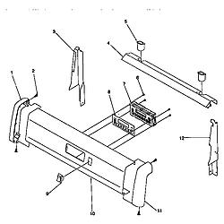 ARG7600 Gas Range Backguard Parts diagram