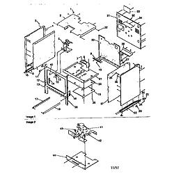 ARG7600 Gas Range Cabinet Parts diagram