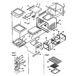 ARG7600 Gas Range Cavity Parts diagram