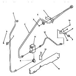ARG7600 Gas Range Gas supply Parts diagram
