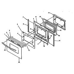 ARG7600 Gas Range Oven door Parts diagram