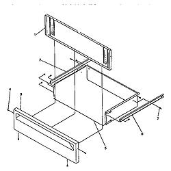 ARG7600 Gas Range Storage door Parts diagram