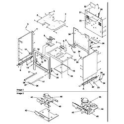 ARG7600LL Gas Range Cabinet Parts diagram