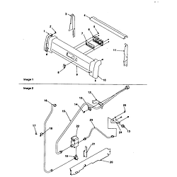 ARG7600WW Amana ARG7600WW Timer/Clock/ERC Backguard and gas supply Parts diagram
