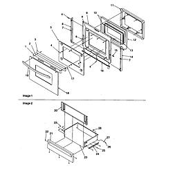 ARG7600WW Amana ARG7600WW Timer/Clock/ERC Oven door and storage door Parts diagram