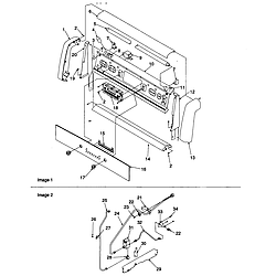 ARG7800 Gas Range Backguard and gas supply Parts diagram