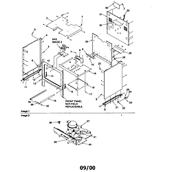 ARG7800 Gas Range Cabinet Parts diagram