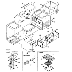 ARG7800 Gas Range Cavity Parts diagram